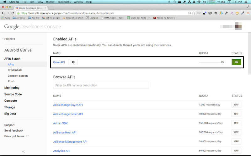 how to enable google drive quick access